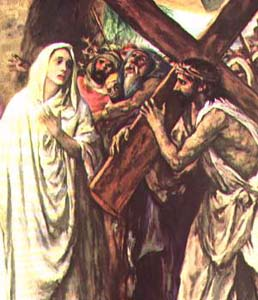 Jeus and Mary on the way of the cross
